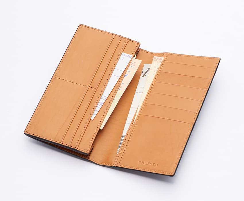 crafsto(クラフスト)のブライドルレザー革財布の収納力