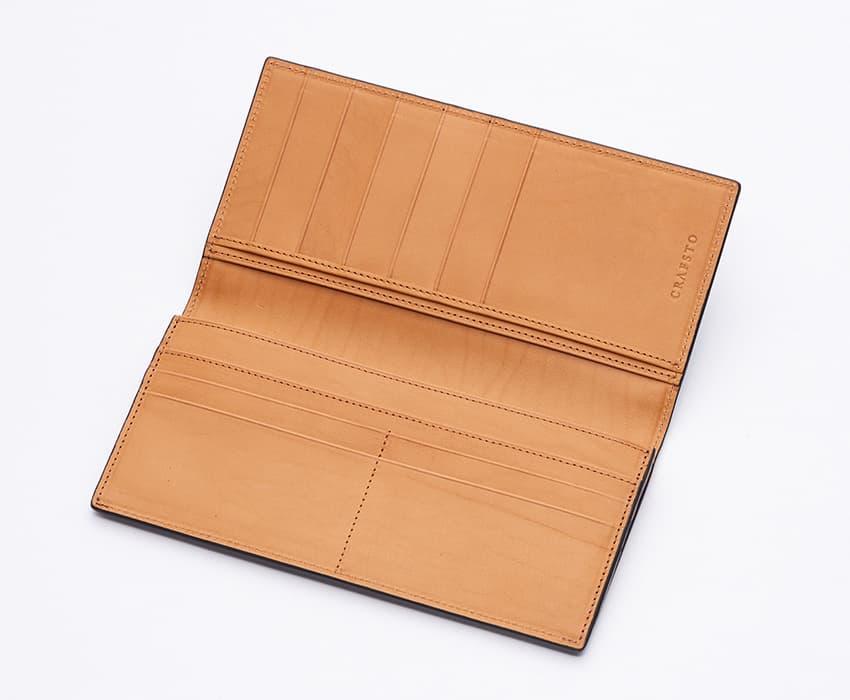 crafsto(クラフスト)のブライドルレザー革財布の内側