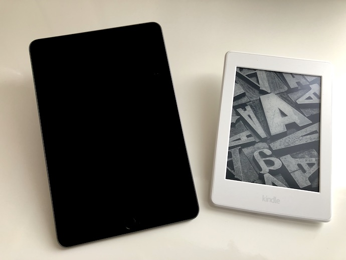 iPad mini(第5世代)とKindle Paperwhiteの比較