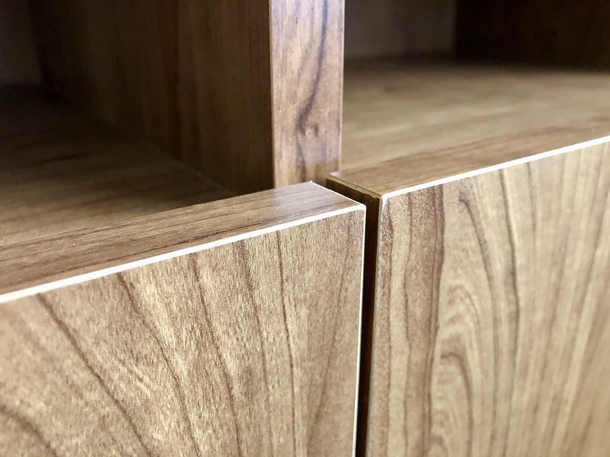 LOWYAの家具は角の部分が面取りされていて痛くない