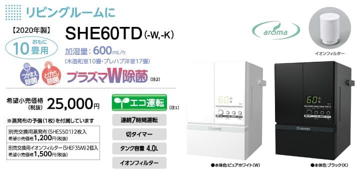 三菱重工 SHE60TD【湿度を一定に保てるインバーター搭載】