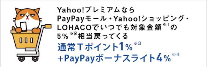 Yahoo!プレミアム会員費が無料になる